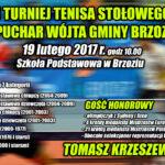 Turniej tenisa stołowego - plakat