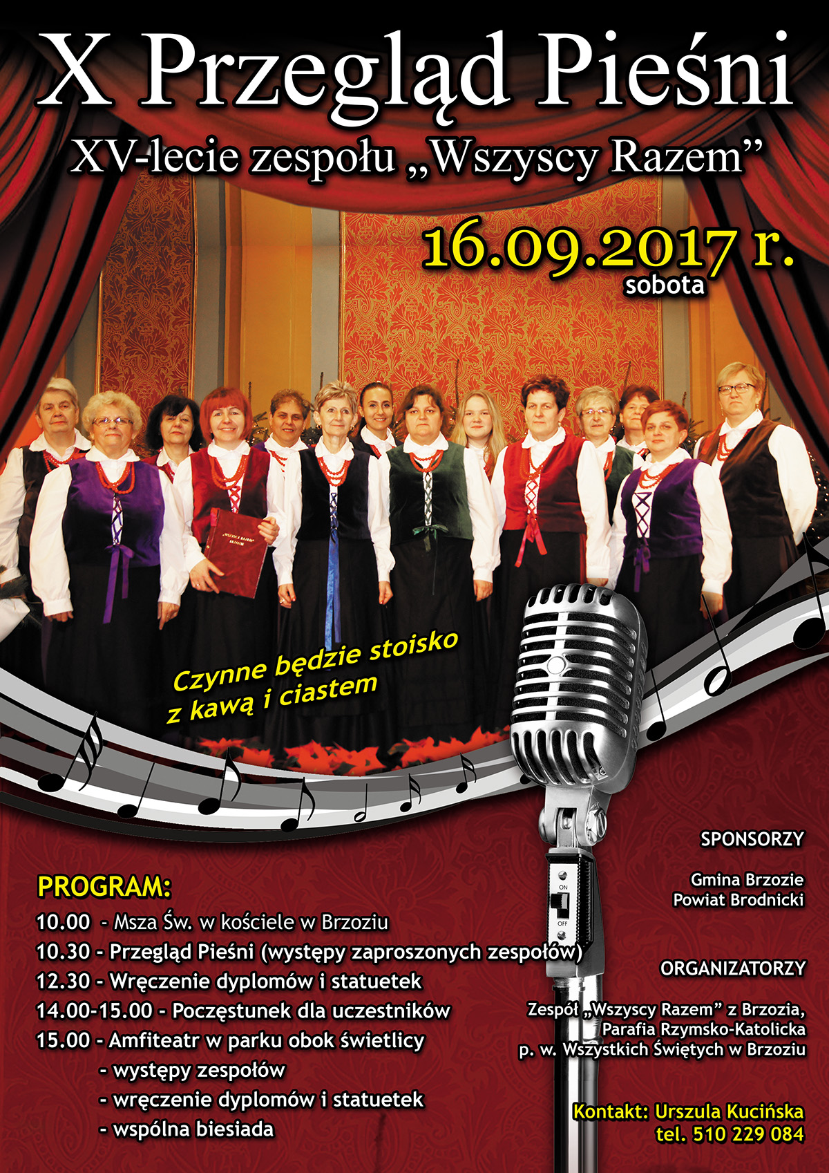 2017-09-16 X Przegląd Pieśni - plakat