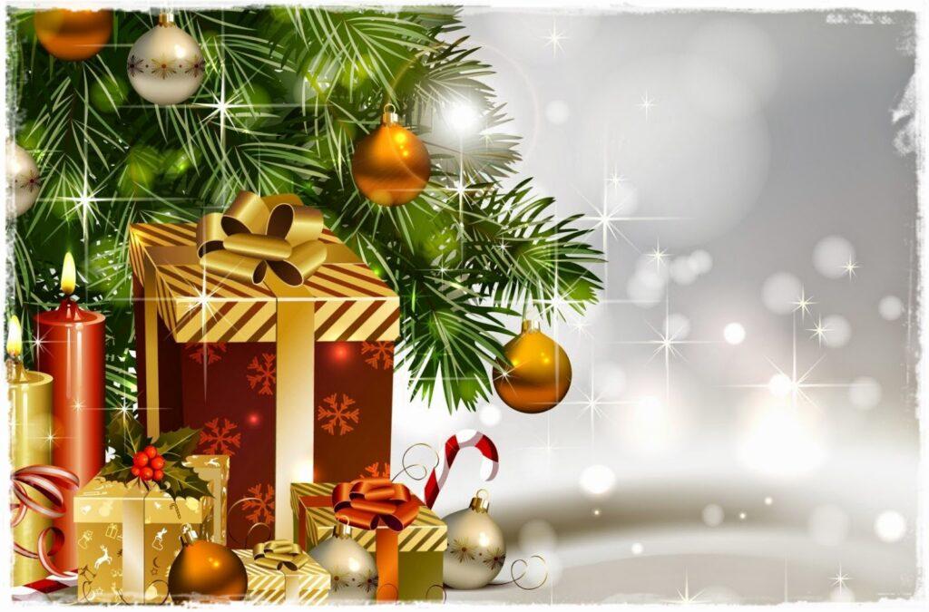 choinka prezenty kartka swiateczna snieg 1024x675 - Życzenia świąteczne