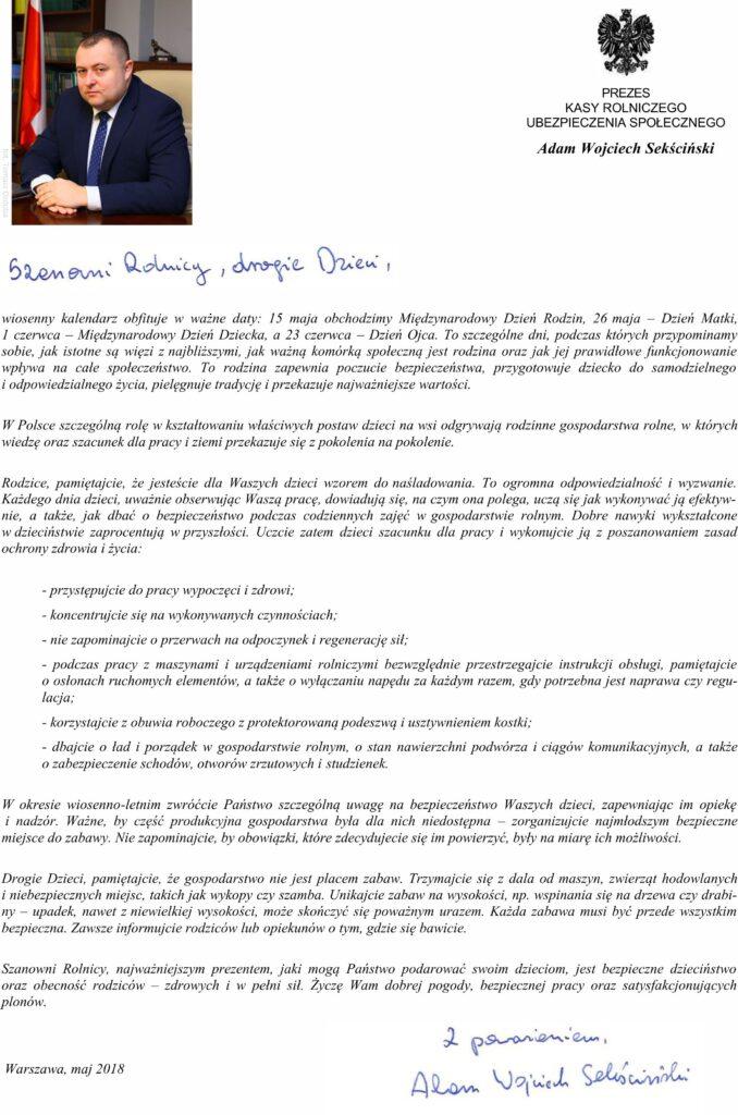 List Prezesa KRUS 2018 05 29 678x1024 - List Prezesa KRUS