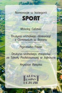 SPORT 200x300 - Gala Talentów Gminy Brzozie