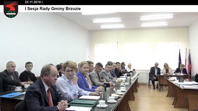 1 - Sesja Rady Gminy Brzozie on-line