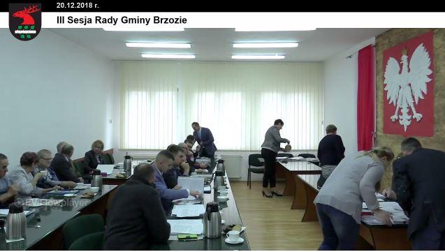 3 - Sesja Rady Gminy Brzozie on-line