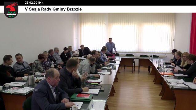 5 - Sesja Rady Gminy Brzozie on-line