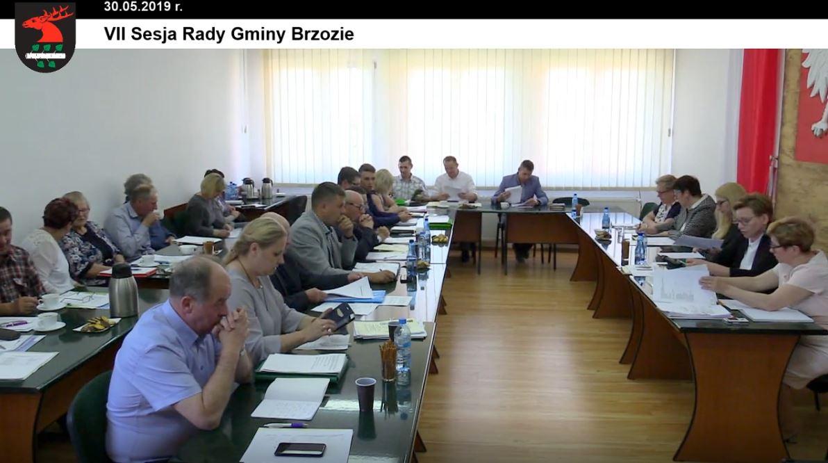 VII sesja rg - Sesja Rady Gminy Brzozie on-line