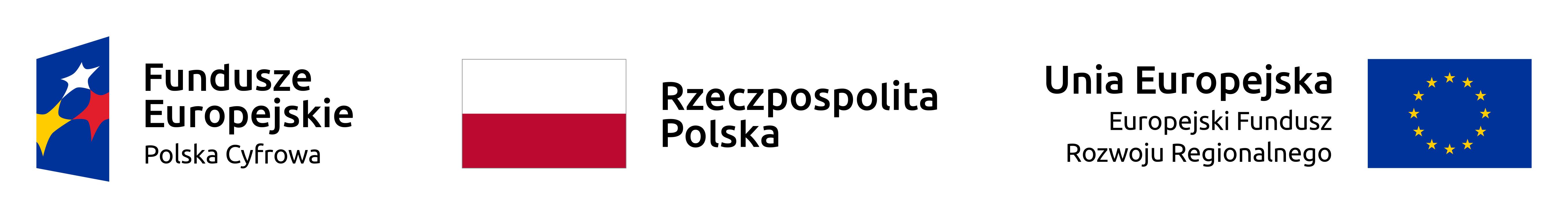 Fundusze Europejskie - Polska Cyfrowa - baner