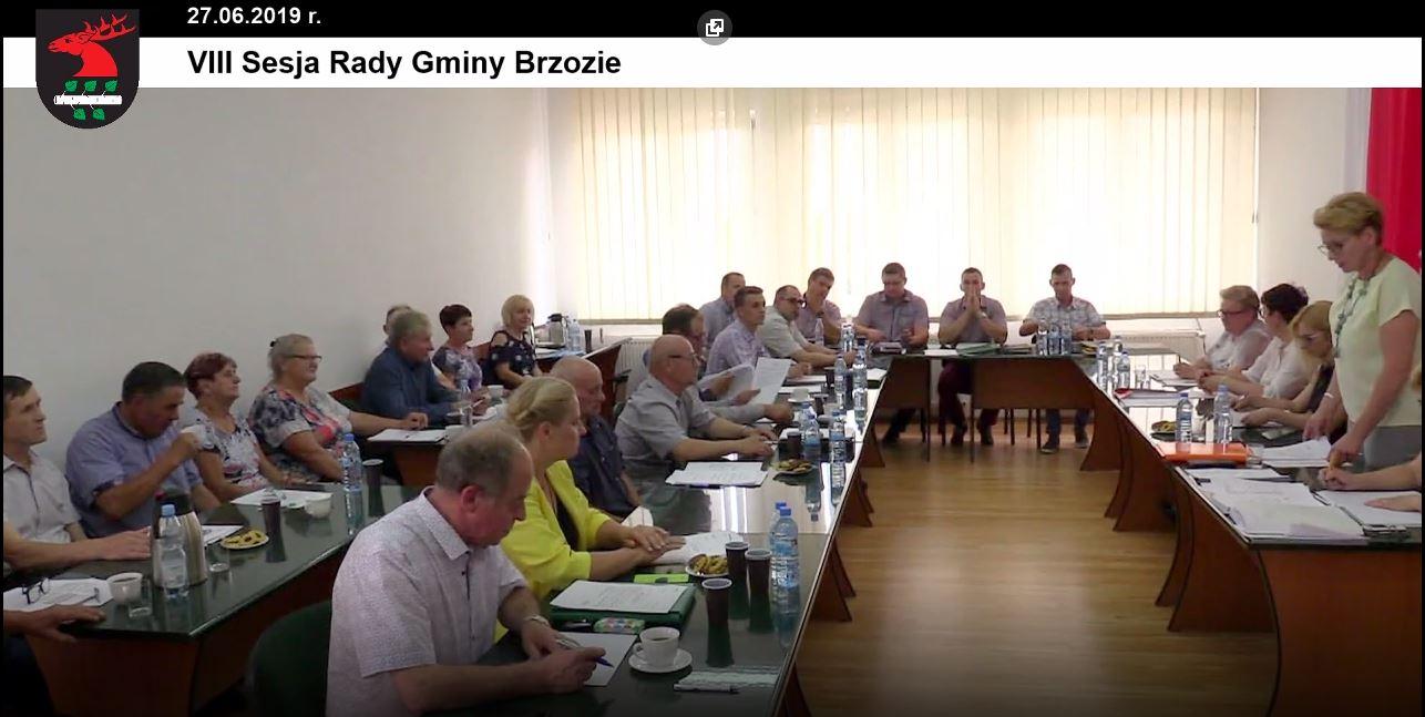 VIII sesja rg - Sesja Rady Gminy Brzozie on-line