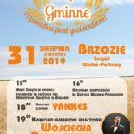 Plakat Dożynki Gminne w Brzoziu 2019