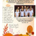 plakat - jesienny koncert