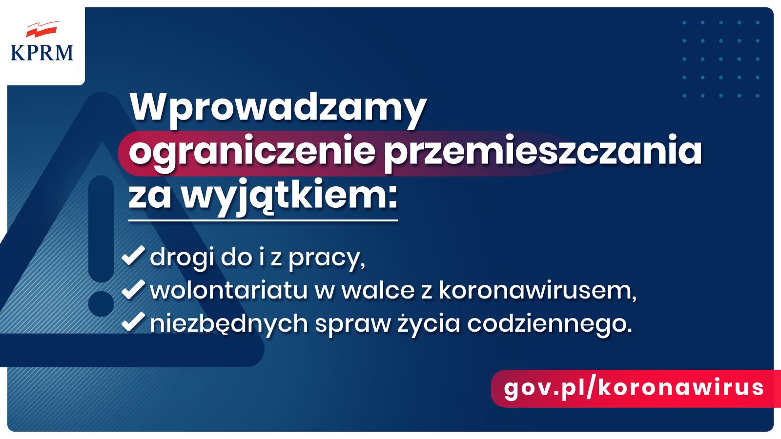 ET38Ce XsAEw3XH - Pilne: Rząd wprowadza nowe zasady bezpieczeństwa w związku z koronawirusem