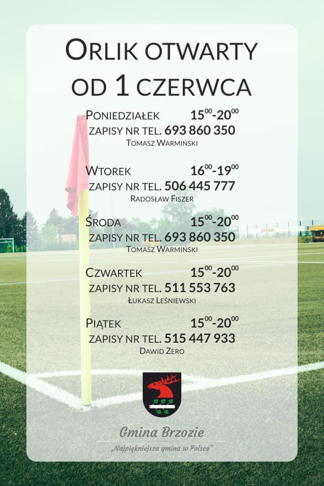 "Orlik zapisy - Kompleks boisk ""ORLIK 2012"""