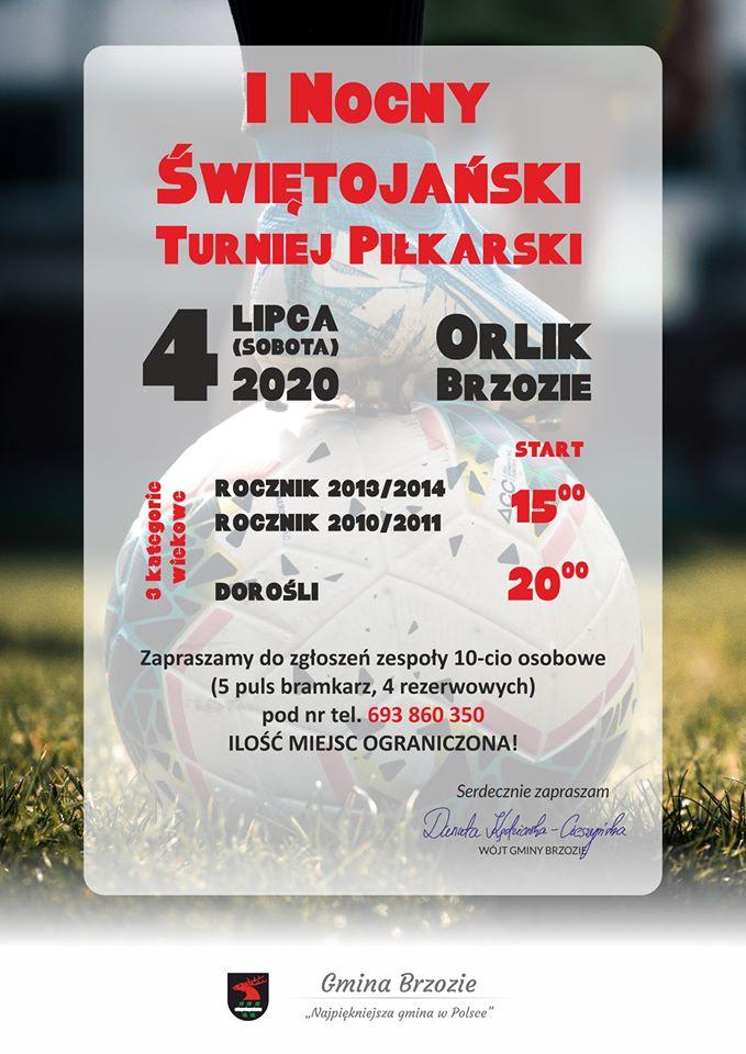 I Nocny Świętojański Turniej Piłkarski plakat - I Nocny Świętojański Turniej Piłkarski
