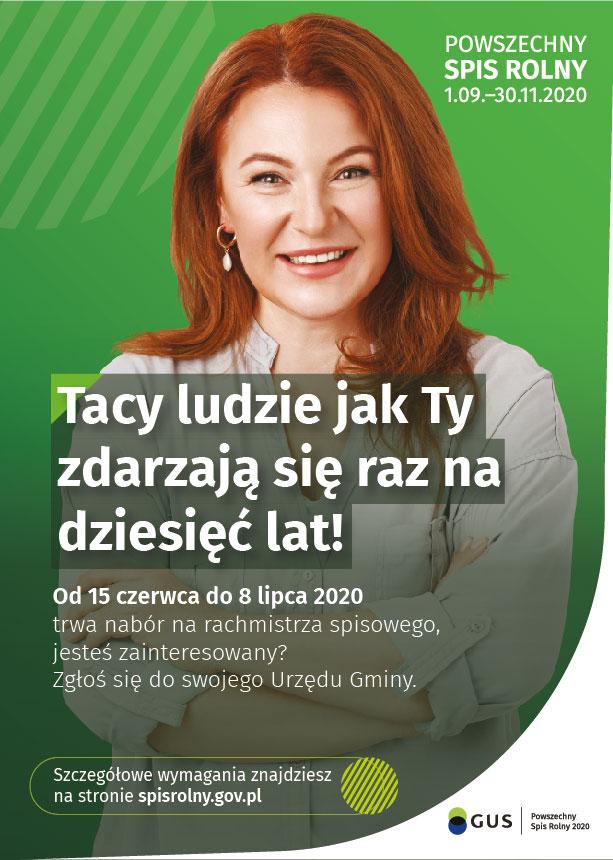 plakat rachmistrz 1 - Nabór kandydatów na rachmistrzów terenowych