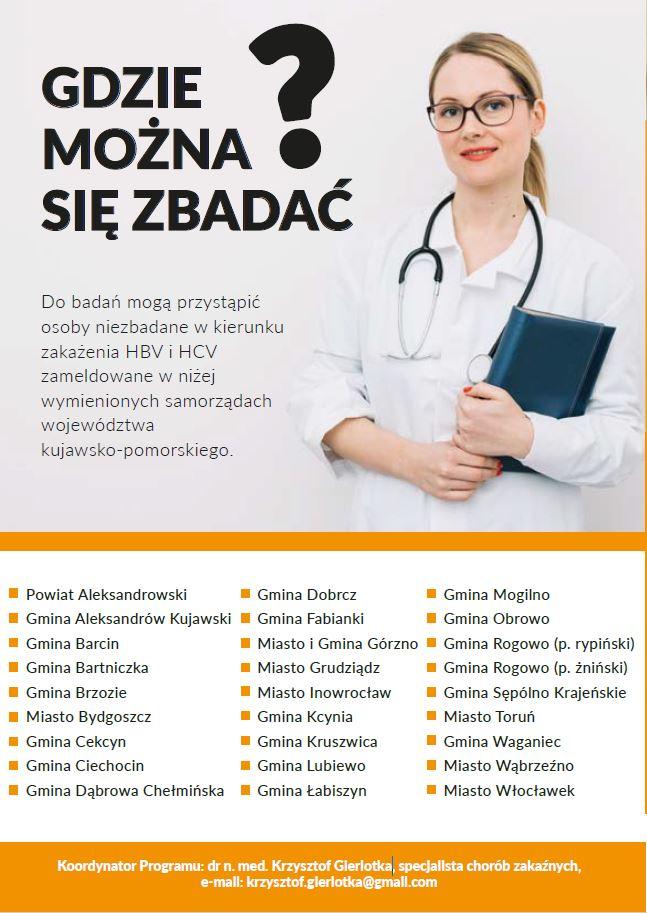 wzw plakat - Program Wykrywania Zakażeń WZW B I C w Województwie Kujawsko-Pomorskim