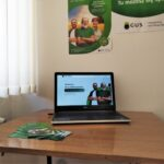 PSR 2020, Gminny Punkt Spisowy Brzozie, laptop na biurku