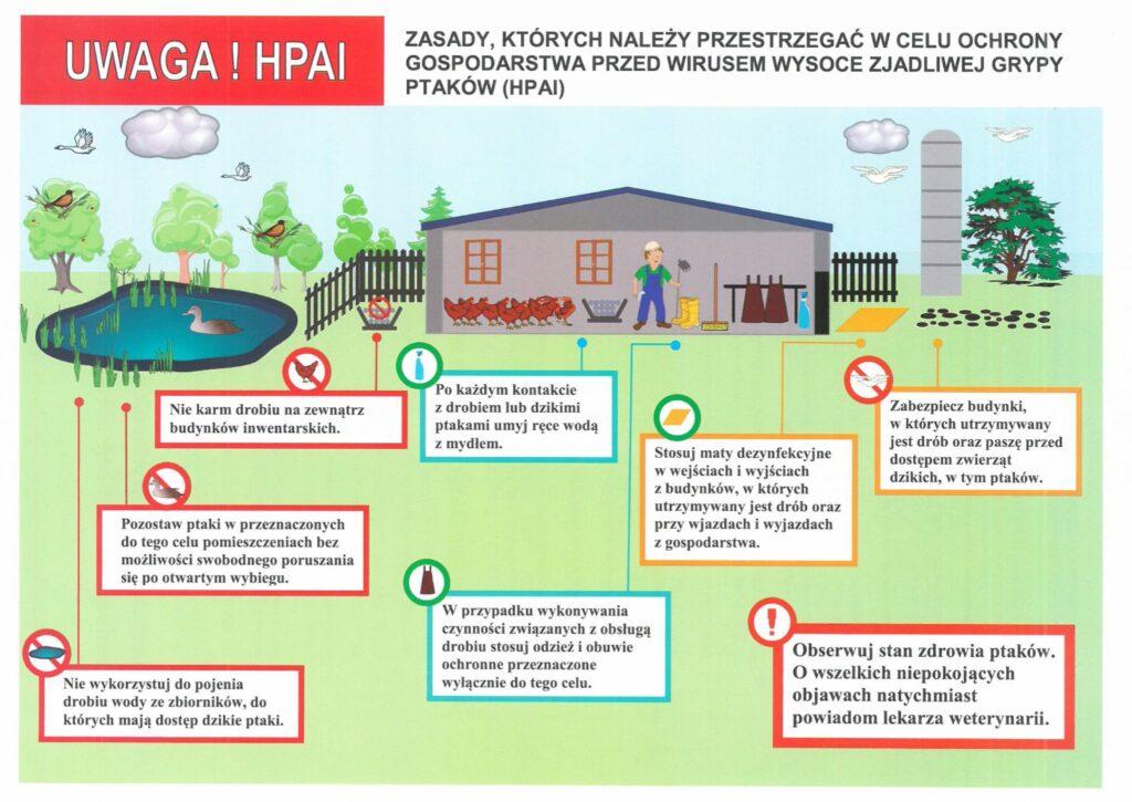 Ptasia grypa zasady bioasekuracji 1 2048x1449 1 1024x725 - PTASIA GRYPA NA TERENIE GMINY BRZOZIE