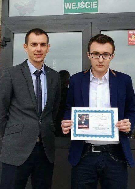 Gimnazjum. Michał Wiśniewski FINALISTĄ w Konkursie Kujawsko-Pomorskiego Kuratora Oświaty z FIZYKI